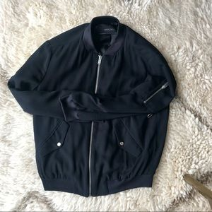 🖤 Black Zara Bomber Jacket